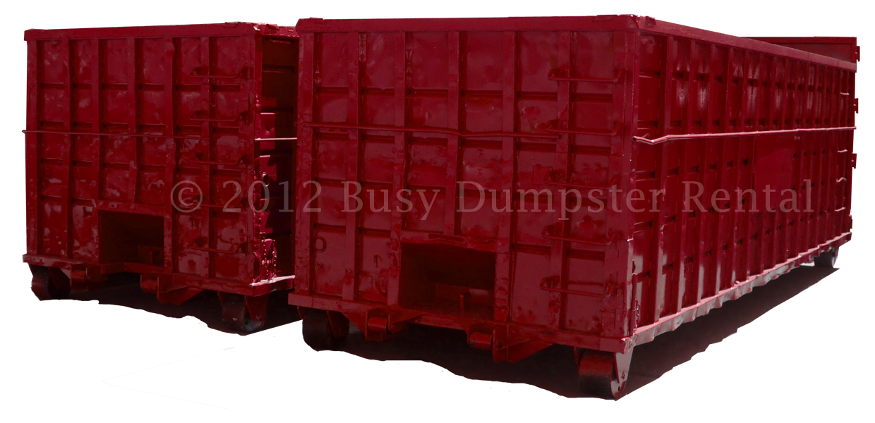 red 40 yard dumpsters